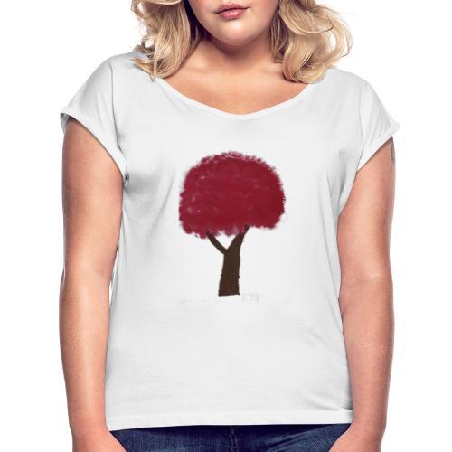 DSC04403 - T-shirt med upprullade ärmar dam