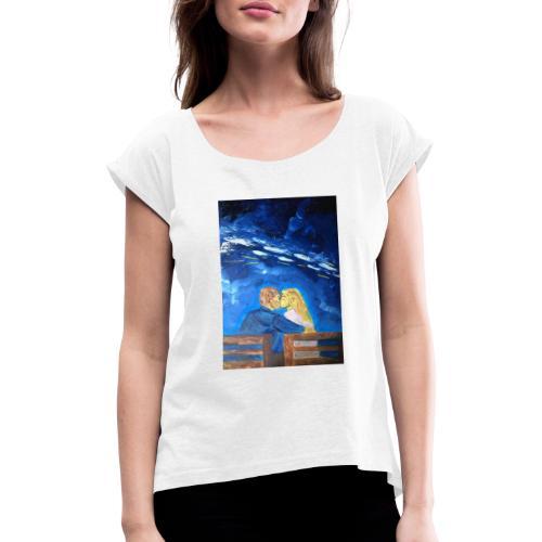 Art by J.Stefano #30 - Vrouwen T-shirt met opgerolde mouwen