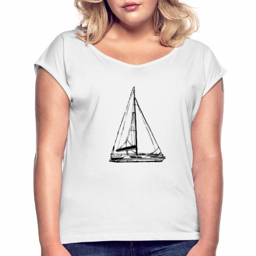 voilier - T-shirt à manches retroussées Femme