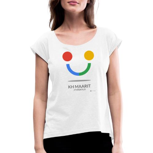 KH MAARIT - Women's T-Shirt with rolled up sleeves