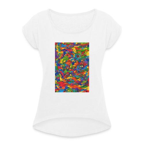 Color_Style - Camiseta con manga enrollada mujer