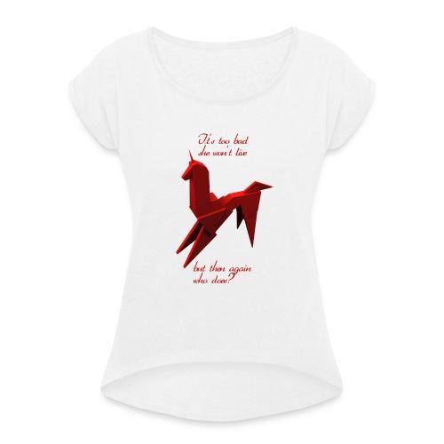 UnicornioBR2 - Camiseta con manga enrollada mujer