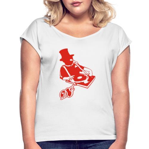 DJ Anno 1887 © forbiddenshirts.de - Frauen T-Shirt mit gerollten Ärmeln