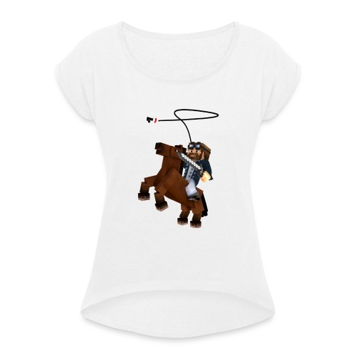 Titan y su rocinante café - Camiseta con manga enrollada mujer