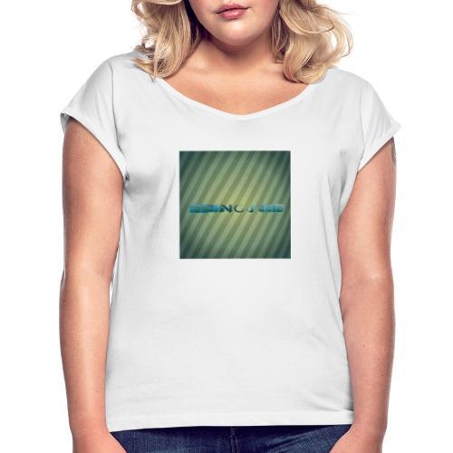 Mein Logo - Frauen T-Shirt mit gerollten Ärmeln