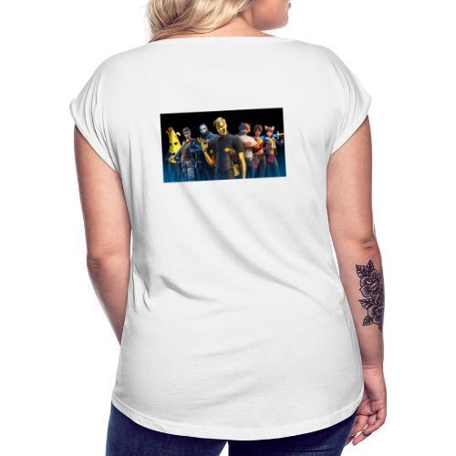 max - T-shirt med upprullade ärmar dam