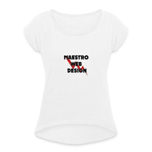 maestrotras - Maglietta da donna con risvolti