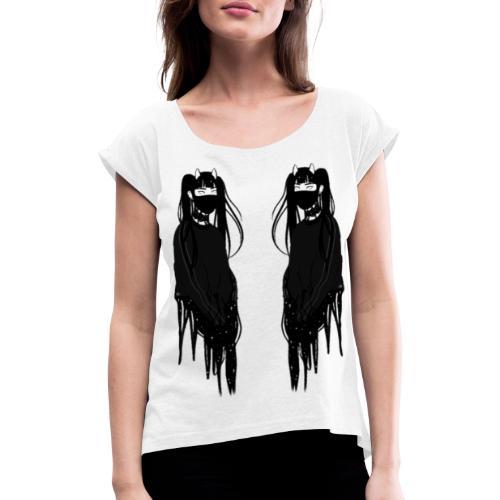 Face To Face - T-shirt à manches retroussées Femme