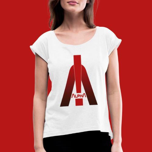 ALPHA - Winner wins! - Frauen T-Shirt mit gerollten Ärmeln