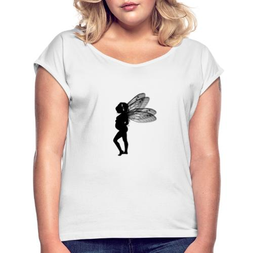 Fairy - Frauen T-Shirt mit gerollten Ärmeln