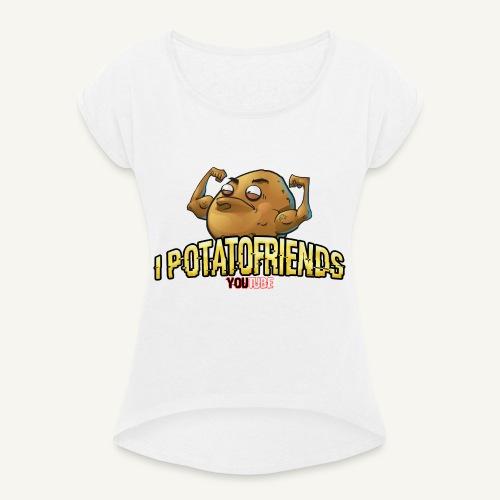 I-POTATOFRIENDS - Maglietta da donna con risvolti