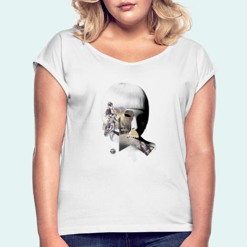Change comes from within - Dame T-shirt med rulleærmer