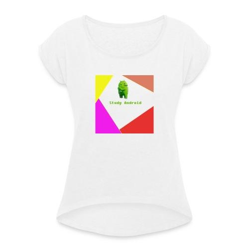 Study Android - Camiseta con manga enrollada mujer