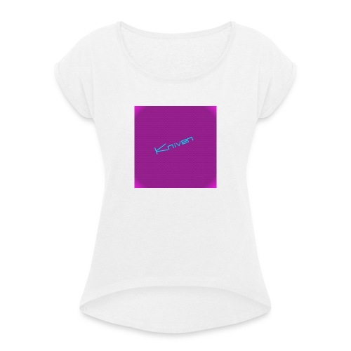 Kniven055 T-shirt - T-shirt med upprullade ärmar dam