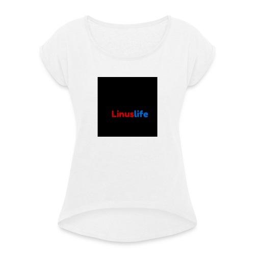6/6s plus skal - T-shirt med upprullade ärmar dam