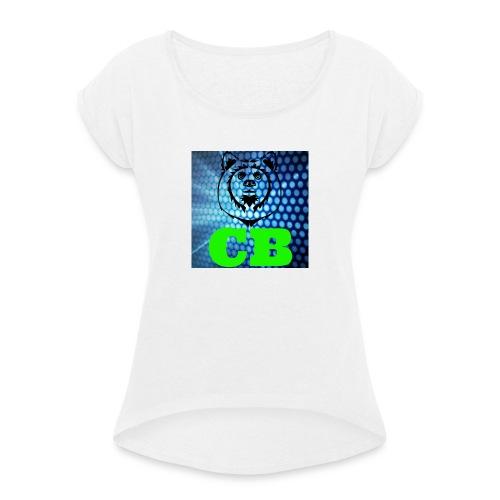 CB Classic Musematte (hvit) - T-skjorte med rulleermer for kvinner