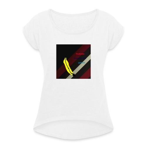 HCG Banaan - Vrouwen T-shirt met opgerolde mouwen