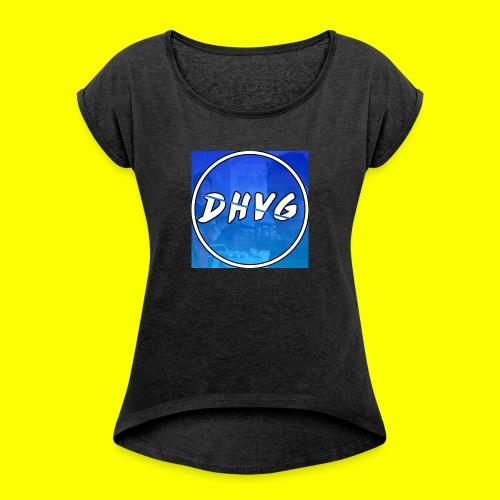 DusHeelVeelgamen New T shirt - Vrouwen T-shirt met opgerolde mouwen