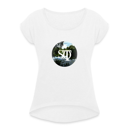 Sonus Tranquillus. - Women's T-Shirt with rolled up sleeves