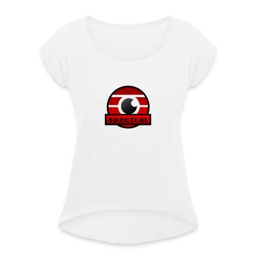Spectral gaming eSports Logo - Vrouwen T-shirt met opgerolde mouwen