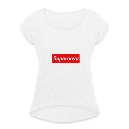 Supernova - T-shirt à manches retroussées Femme