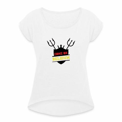 Come On Belgium - T-shirt à manches retroussées Femme