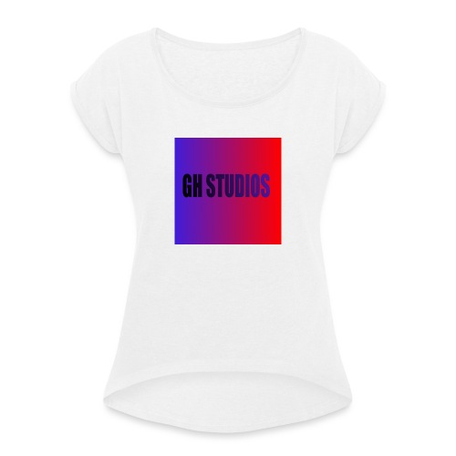 ICONNNN123321 - Women's T-Shirt with rolled up sleeves