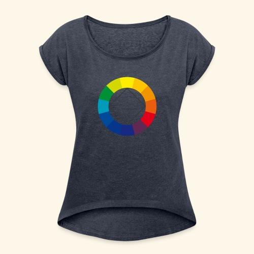 farbkreis - Frauen T-Shirt mit gerollten Ärmeln