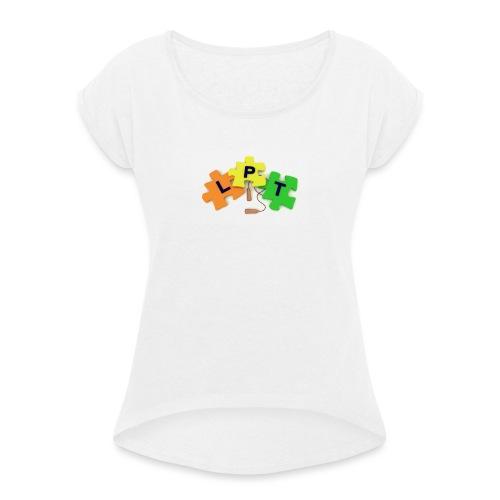 Livspusselträning - T-shirt med upprullade ärmar dam