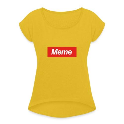 D-fault Meme Shirt - Vrouwen T-shirt met opgerolde mouwen