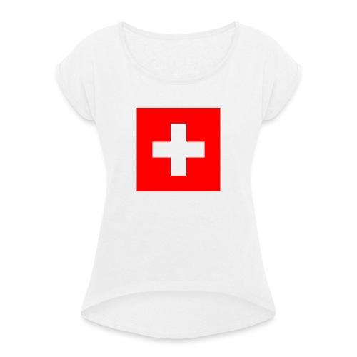 Swiss - T-shirt à manches retroussées Femme