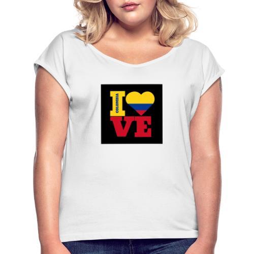 Your Online Store - Frauen T-Shirt mit gerollten Ärmeln
