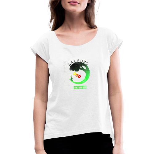 350 Aalborg new style - Dame T-shirt med rulleærmer