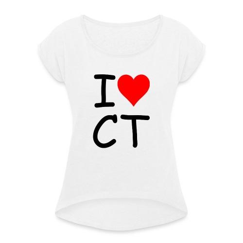ILOVECT - Frauen T-Shirt mit gerollten Ärmeln