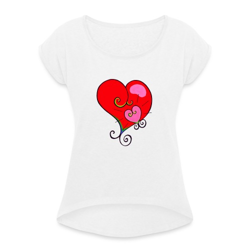 Magic Mother & Magic Child - Women's T-Shirt with rolled up sleeves