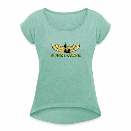 Maa-t yellow - Women's T-Shirt with rolled up sleeves