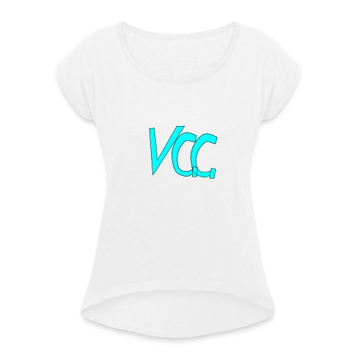 VGG Merch - Vrouwen T-shirt met opgerolde mouwen