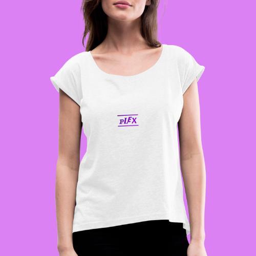 PlexLogo2 - T-shirt med upprullade ärmar dam