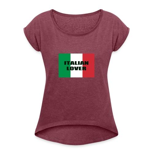 ITALIAN LOVER - Maglietta da donna con risvolti
