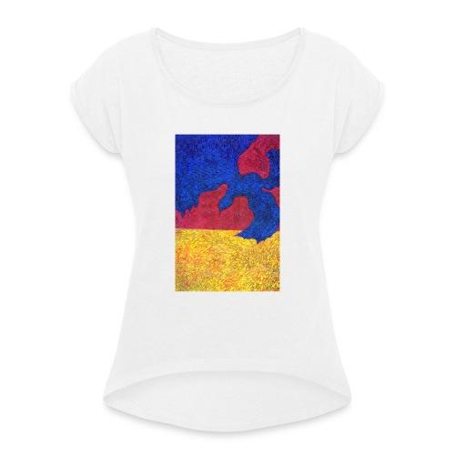 I Wanted Always To Be Bird - Koszulka damska z lekko podwiniętymi rękawami