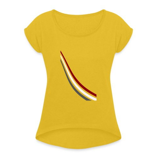 stripes shirt png - Vrouwen T-shirt met opgerolde mouwen