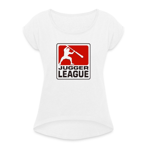 Jugger LigaLogo - Frauen T-Shirt mit gerollten Ärmeln