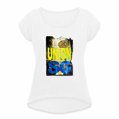 UNION SG - Vrouwen T-shirt met opgerolde mouwen