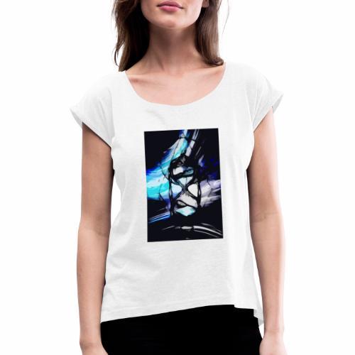 Reloj de los tiempos - Camiseta con manga enrollada mujer