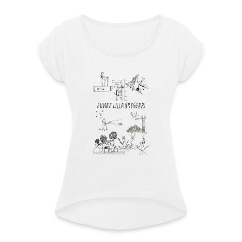 Sunes etiketter - T-shirt med upprullade ärmar dam