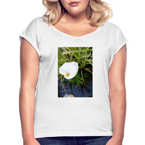 Wasserblume CALA - Frauen T-Shirt mit gerollten Ärmeln