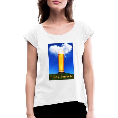 4184Bild Kopie - Frauen T-Shirt mit gerollten Ärmeln