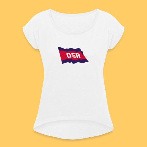 deine DSR Flagge - Frauen T-Shirt mit gerollten Ärmeln