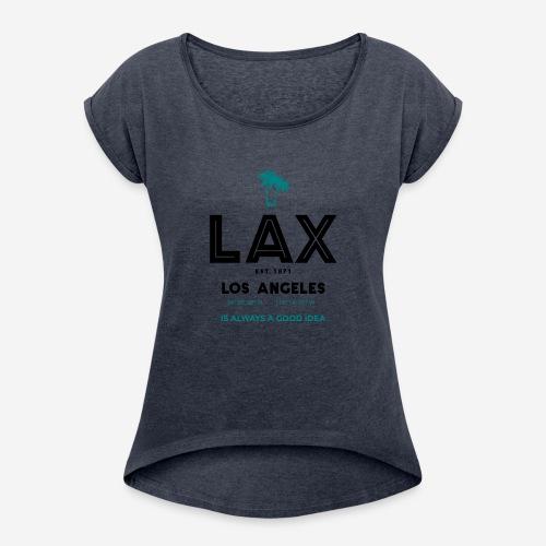 LAX è una buona idea!! - Maglietta da donna con risvolti