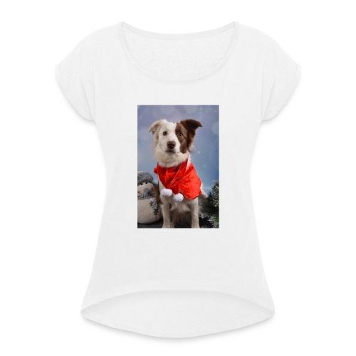 DSC_2058-jpg - Vrouwen T-shirt met opgerolde mouwen